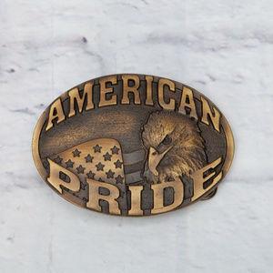 Montana Silversmiths Oval Brass Belt Buckle